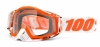 Gogle off-road 100% RACECRAFT MANDARINA 2 szyba clear