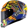 KASK AGV GP-TECH FIVE CONTINENTS ROSSI 46 CARBON